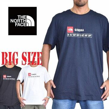 ノースフェイス 半袖 ロゴプリント Tシャツ GPS girona EUライン 海外限定 黒 XL XXL 大きいサイズ メンズ [M便 1/1]