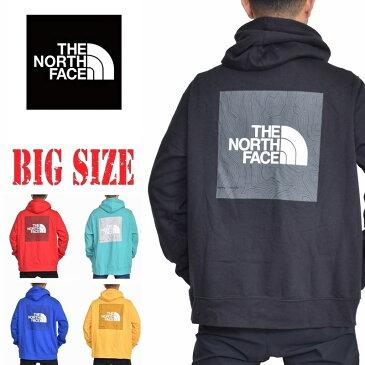 ノースフェイス THE NORTH FACE XL XXL パーカー プルオーバー 裏起毛 スウェット 黒 赤 青 黄色 大きいサイズ メンズ あす楽