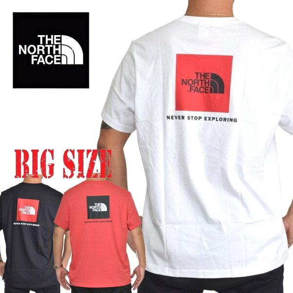 ノースフェイス半袖ボックスロゴTシャツREDBOX黒白ヨーロッパライン海外 THENORTHFACEXLXXL大きいサイズメンズ