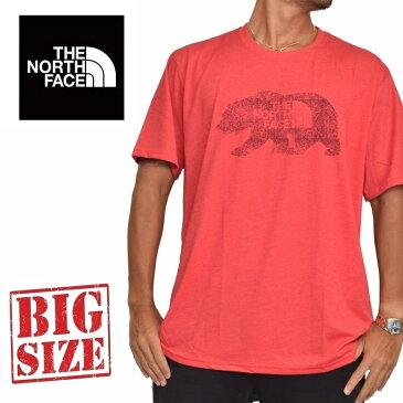 ノースフェイス 半袖 ロゴプリント Tシャツ USAモデル XL XXL 赤 レッド THE NORTH FACE STANDARD FIT 大きいサイズ メンズ [M便 1/1]