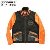 シングルライダース 本革 シングルライダース バイクジャケット シングルライダース メンズ シングルライダース バイク ジャケット ライダース メルトン 本革ジャケット メルトンジャケット ベティブープ DEGNER デグナー BJ-1(ブラック/オレンジ) 送料無料