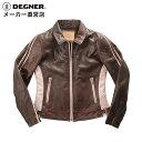 デグナー DEGNER シングルライダースジャケットDG15WJ-4 レディース レザー 本革ジャケット 牛革 ヴィンテージ オールドブラウン