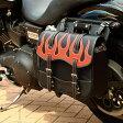 サイドバッグ テキスタイル サイドバック ハーレー アメリカン サイドバッグ バイカーズ バイク サイドバッグ 合皮 鉄馬 ナイロン ツーリング サイドバッグ DEGNER デグナー NB-1F(レッド) 送料無料