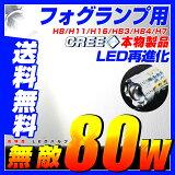 【即納】80W フォグランプ LED 汎用 H8/H11/HB4/H16(プリウス/アクア)/H7/HB3/PSX26W/PSX24W 純正フォグ アルミヒートシング/バックライト/プロジェクターレンズ/12v対応フォグ用 LEDヘッドライト LEDフォグランプ/30w/50w
