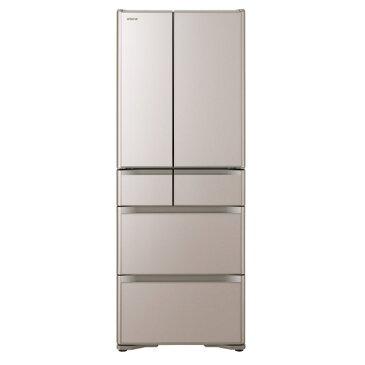 (物流在庫あり)日立 R-XG56J XN 555L 6ドアノンフロン冷蔵庫 真空チルド XGシリーズ クリスタルシャンパン RXG56JXN ※配送・設置は、最寄のエディオン配送センターよりお伺いいたします。[全国送料無料 ※一部地域を除く]
