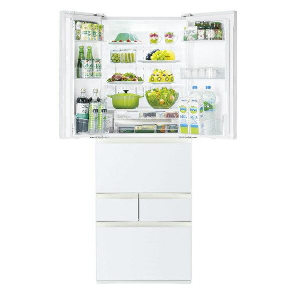 東芝 509L 6ドアノンフロン冷蔵庫 VEGETA グランホワイト GRR510FHEW  ※配送設置:最寄のエディオン商品センターよりお伺い致します。[※サービスエリア外は別途配送手数料が掛かります]