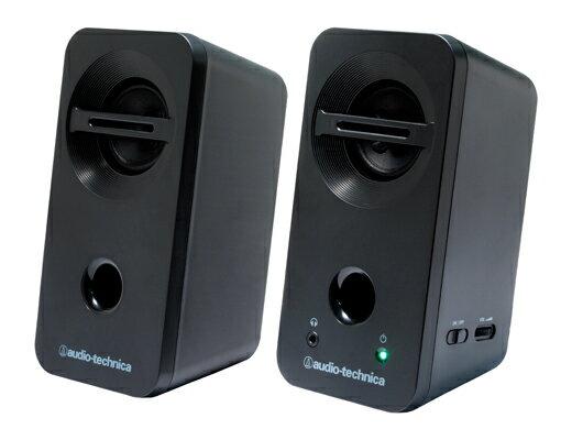 (お取り寄せ)オーディオテクニカ (Audio-Technica) アクティブスピーカー AT-SP93 BK(ブラック)