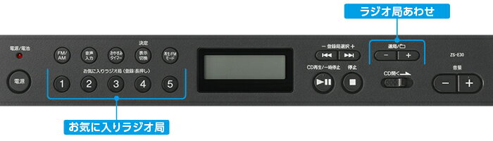 (お取り寄せ)SONY CDラジオ ZS-E30 B ブラック(ZSE30B)ワイドFM対応(FM補完放送)