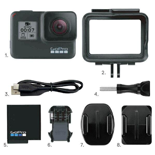 GoPro CHDHX-701-FW ウエラブルカメラ HERO7 Black ブラック [CHDHX701FW] ※延長保証対象外