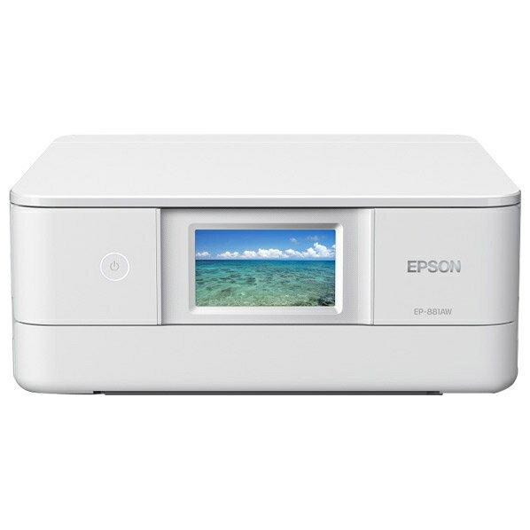 エプソン EP-881AW インクジェット複合機 colorio ホワイト [EP881AW]
