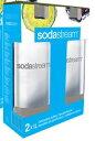 炭酸水 sodastream/ソーダストリーム専用プラスチックボトル(1リットル)2本セット SSB0005 ホワイト
