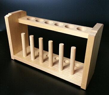 試験管立て(木製)径18mm×6本用 DJ-0501