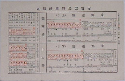 【中古】名古屋発汽車時間表