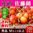 【送料無料】山形産 さくらんぼ 700g バラ詰め 秀品 M・L混合 高糖度の佐藤錦♪