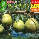 【送料無料】 山形県 ラフランス 大玉 訳あり 3kg 西洋梨 アウトレット