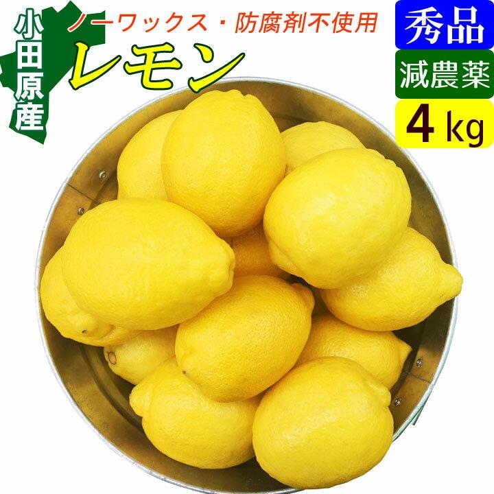 【送料無料】減農薬国産レモン4kg小田原産特別栽培・有機肥料