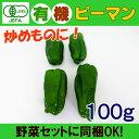 オーガニック 有機 ピーマン 100g 無農薬 有機野菜