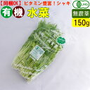 オーガニック 有機 水菜 150g 無農薬 有機野菜