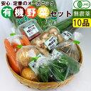 【1品ずつ個包装】無農薬 有機野菜 セット 10品目 オーガ