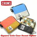 【ネコポス対応】CHUMS Square Coin Case Sweat Nylon スクエアコインケーススウェットナイロンCHUMS チャ...