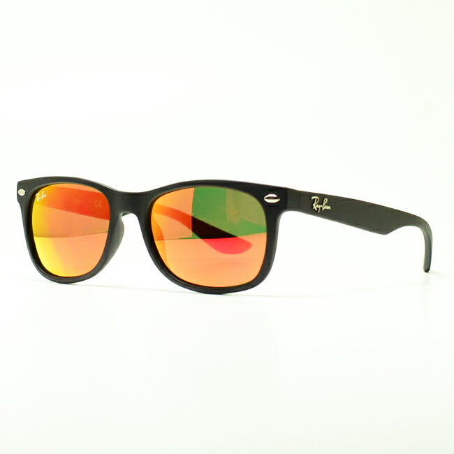 junior ray bans sunglasses  sunglasses ray ban new wayfarer junior (matte black/red mirror)