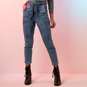 デニム パンツ ハイウエスト クロップド丈 ベルト付き レディース インポート 海外ファッション 直輸入 被らない おしゃれ 春 トレンド かわいい モデル 美脚効果 ブラジル製