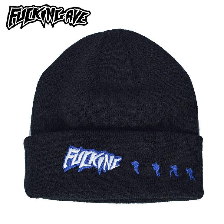 メンズ帽子, ニット帽 FUCKING AWESOME SNOWMEN BEANIE BLACK