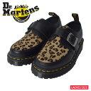 Dr.Martens ドクターマーチン 【R25127001】 RAMSEY MONK SMOOTH BLACK & LEOPARDモンクストラップ レディース シューズ 靴ブラック レオパード