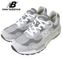 NEW BALANCEニューバランス【M992GR】GREY WHITE / グレー 灰色【Dワイズ】メンズ 靴 スニーカー BRAND NBメンズランニングシューズ フットウェア