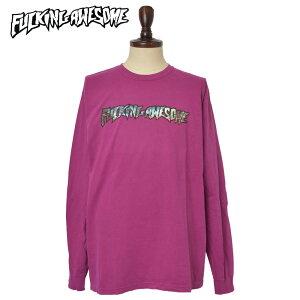 メール便Fucking Awesomeファッキンオーサム【EXTINCTION L/S TEE】PIGMENT-DYED BOYSENBERRY ピグメント-ダイド ボイズンベリーメンズ Tシャツ 長袖