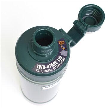 STANLEYスタンレー【Classic Vacuum Water Bottle/18oz】クラシック バキューム ウォーター ボトル 0.53L グリーン ブラック スチール水筒 ステンレスボトル 真空 保温 保冷 アウトドア キャンプ