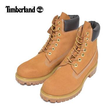 Timberlandティンバーランド【TB010061713】6-Inch Premium Waterproof BootsWheat Nubuck leatherメンズシューズ 靴 ブーツ レザー カーキ