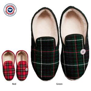 LE SLIP FRANCAISル スリップ フランセRoom ShoesGreen / Redメンズ ルームシューズ ホワイトファー レッド グリーン プレゼント