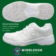 【送料無料】【あす楽】WIMBLEDON ウィンブルドン スニーカー メンズ レディース ジュニア WM4000 オールコート対応 軽量 4E テニス 部活動 作業履き 白スニーカー