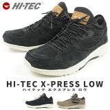 【特価】レザースニーカー メンズ HI-TEC ハイテック X-PRESS LOW タウンシューズ ウォーキング カジュアルスタイル