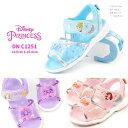 ディズニー Disney サンダル DN C1251 キッズ 子供靴 ディズニープリンセス キラキラ お花 リボン 抗菌防臭 軽量 2