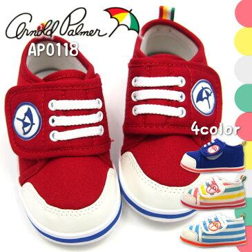 【大特価/即納】 Arnold Palmar アーノルドパーマー スニーカー キッズ 全4色 AP0118 ベビー ファーストシューズ 赤ちゃん 子供靴 男の子 女の子 ベルクロ お祝い