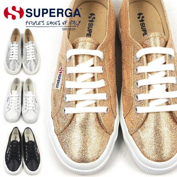 【最終特価】 SUPERGA スペルガ スニーカー レディース 全4色 2750 LAMEW S001820 ラメ 正規品 ローカット キャンバス レースアップ ゴールド シルバー シューズ 靴 女性 女子 婦人
