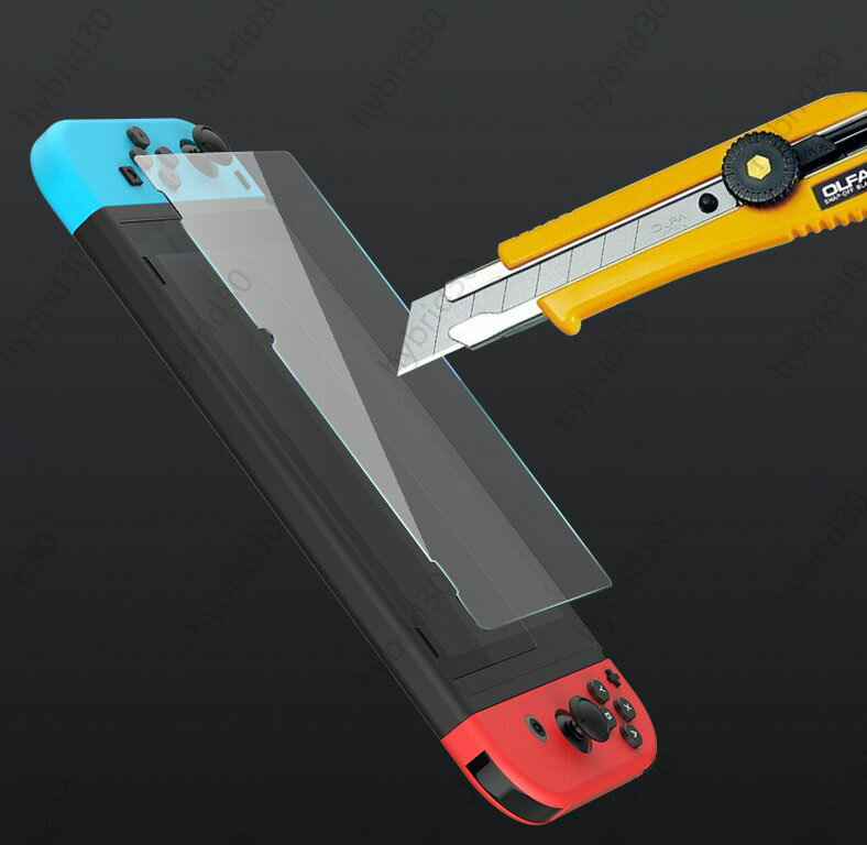 NintendoSwitch新型ガラス強化フィルムスクリーン保護フィルム高硬度ブルーライト強化ガラスフィルム液晶保護画面保護表面硬度9Hニンテンドースイッチ任天堂贈るアシストキャップ2個セット送料無料