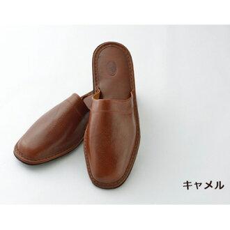 男子的女子的拖鞋書皮革[Il Kuoio]室內拖鞋郵費免費