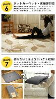 【全3サイズ】ラグ用下敷きクッションラグカーペットホットカーペット対応床暖対応滑り止めボリューム防音1.523畳手洗い可能【2900円〜】