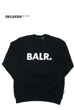 【BALR.ボーラー】CHALKSTRIPEDSTRAIGHTHOODIEスウェットパーカーブランドロゴ(BLACK)