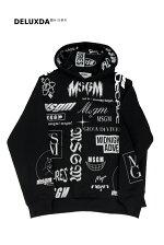 【2020SS】【正規代理店商品】MSGM(エムエスジーエム)ロゴプリントパーカーメンズ(MM100)BLACK