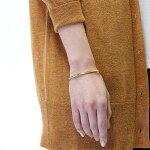 誕生石2ストーンバングルゴールドーカラーカップルでペアやプレゼントに最適ブレスレットAPB0204-GDステンレス