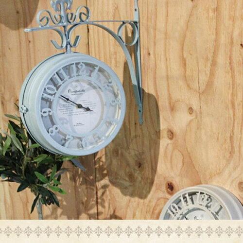 時計 壁掛け時計 OLD STREET 両面時計L アンティーク調 [BB-244794] 西海岸