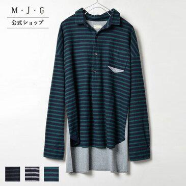 M・J・G エムジジェ カットコンビプルオーバー ◆レディース ブラック 黒 トップス◆ size 2-3 【SALE】 GMT572