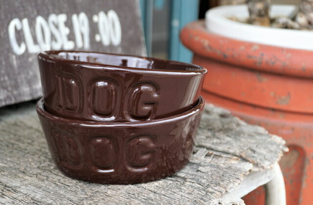BAUER POTTERYDOG BOWL Mサイズチョコレート【北海道内翌日午前着】【12時までの御注文で即日発送】