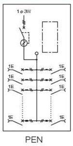 【日東工業】PEN5-10JCアイセーバ協約形プラグイン電灯分電盤基本タイプ単相3線式主幹50A分岐回路数10色クリーム