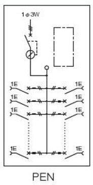 日東工業PEN7-18Jアイセーバ協約形プラグイン電灯分電盤基本タイプ 単相3線式 主幹75A分岐回路数18 色ライトベージュ