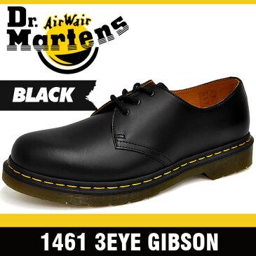 ドクターマーチン メンズ 1461 3アイ シューズ ギブソン ブラック Dr. Martens 1461 3EYE GIBSON BLACK 11838002